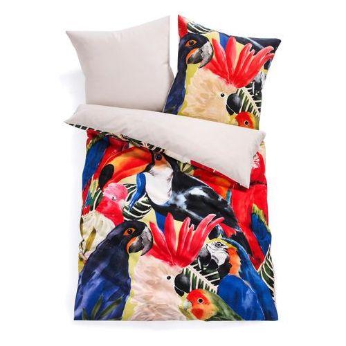 Pościel dwustronna w tropikalne motywy kolorowy marki Bonprix