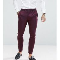 super skinny suit trousers in texture - red marki Noose & monkey