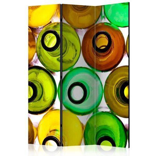Parawan 3-częściowy - butelki (tło) [Room Dividers]