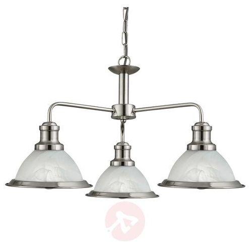 Searchlight Trzypunktowa lampa wisząca bistro w stylu retro (5053423056517)