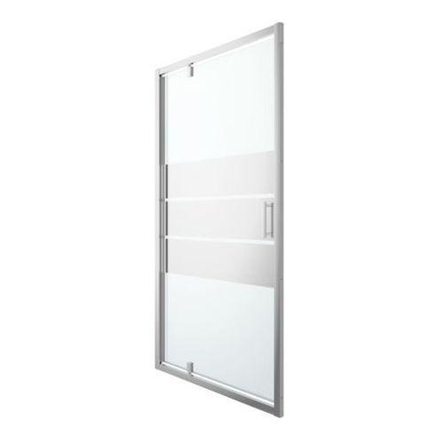 Drzwi prysznicowe wahadłowe Cooke&Lewis Beloya 120 cm chrom/szkło lustrzane, K599EM