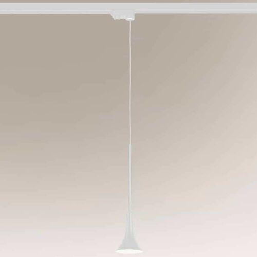 Shilo Lampa wisząca kanzaki 7961 loftowa oprawa zwis led 4,5w 3000k metalowy biały (5903689979610)