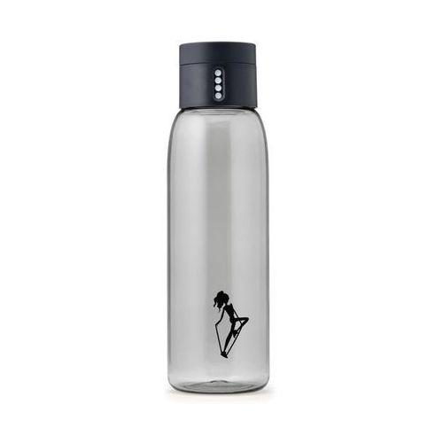 Butelka na wodę Dot Anna Lewandowska szara mała grafika