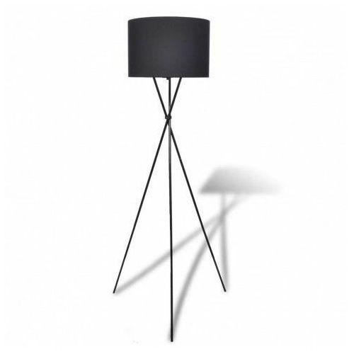 Lumes Czarna okrągła lampa podłogowa z włącznikiem - ex02-someba