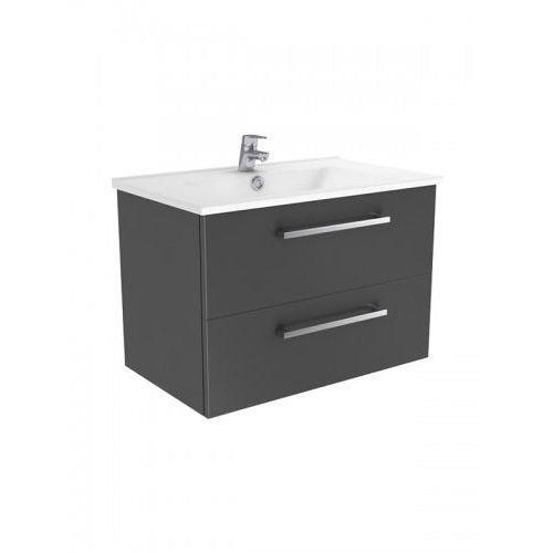 fargo szafka wisząca + umywalka grafit połysk 55 cm ml-ar155 marki New trendy