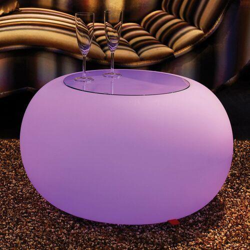 Stolik BUBBLE, światło LED RGB i szklany blat (4260218361959)