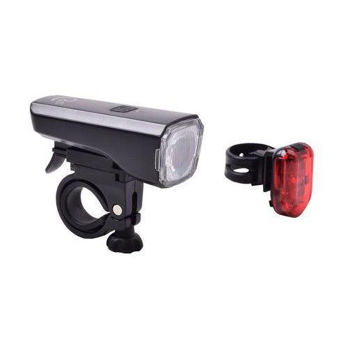 Rfr tour 25 hpa zestaw oświetlenia szary/czarny 2018 lampki na baterie zestawy