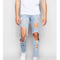 Brooklyn supply co. Brooklyn supply co skinny jeans cut out bleach wash - blue