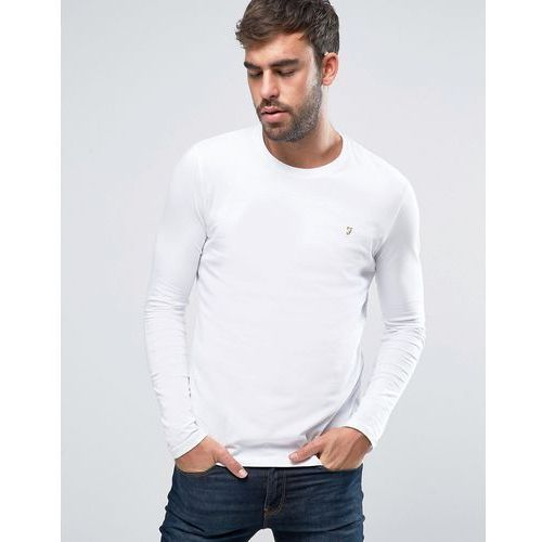 southall super slim muscle fit long sleeve t-shirt white - white, Farah, XS-XL