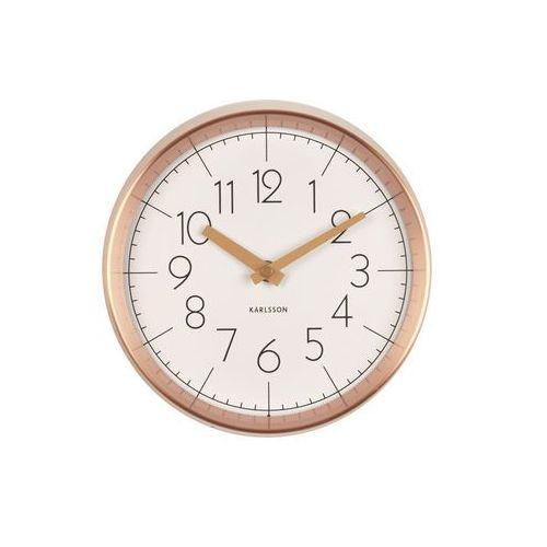 Karlsson:: Zegar ścienny Convex White, kolor biały