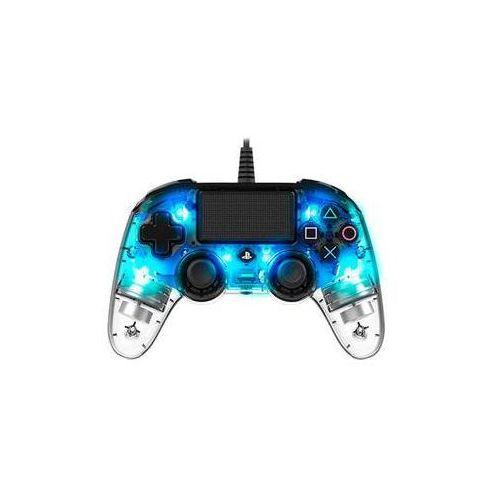 Nacon Gamepad wired compact controller pro ps4 (ps4hwnaconwicccblue) niebieski/przezroczysty