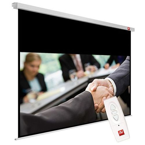 Ekran elektryczny 200x200cm AVTek Business ELECTRIC 200 - Matt White (ramki 2,5cm + top 73,2cm, obraz 195x121,8 cm)