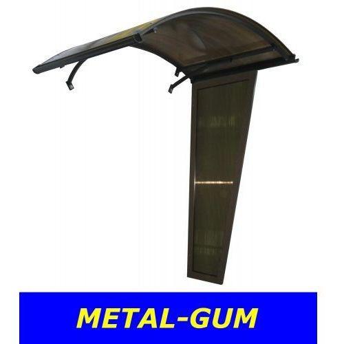 Metal-gum Daszek nad drzwi łukowy zadaszenie 160x90+ ścianka 180