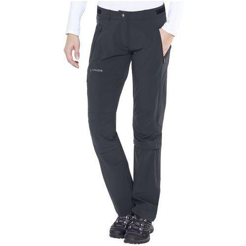 farley ii stretch spodnie długie kobiety czarny 44 2018 spodnie z odpinanymi nogawkami marki Vaude