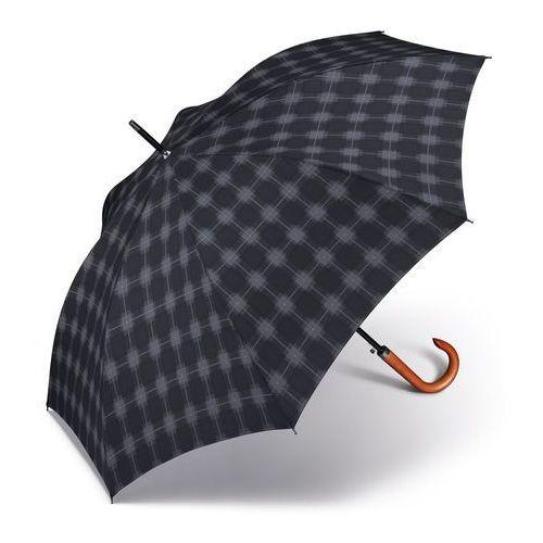 voltaire długi męski parasol automatyczny long ac 62/8 - czarny marki Pierre cardin