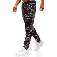 Spodnie męskie dresowe joggery moro szare Denley TC873, dresowe
