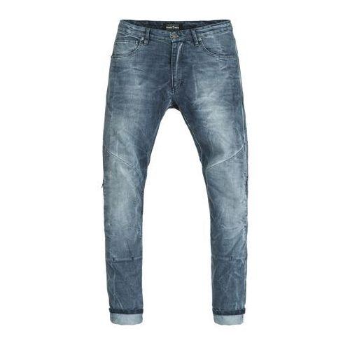 Męskie jeansy na motocykl boss desert, niebieski, 33 marki Pando moto