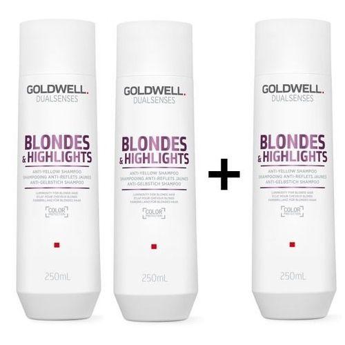 Goldwell dualsenses blondes and highlights   zestaw: szampon do włosów blond 3x250ml