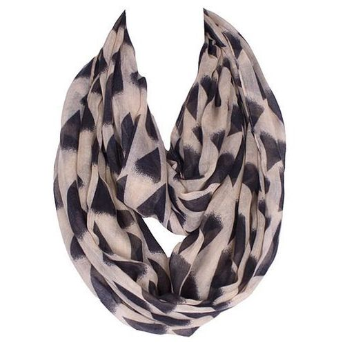 Black Irregular Triangle Pattern Voile Bib Scarf For Women, kup u jednego z partnerów