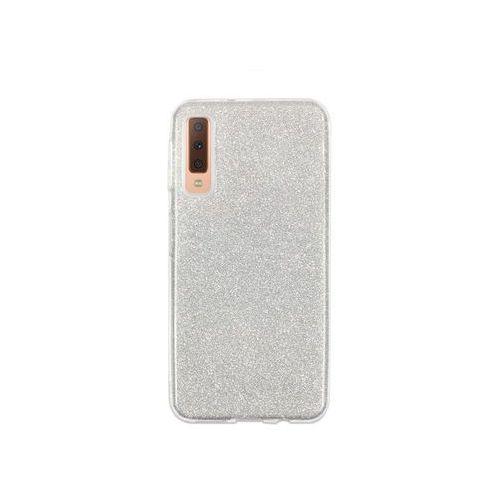 Samsung Galaxy A7 (2018) - etui na telefon Forcell Shining - srebrny