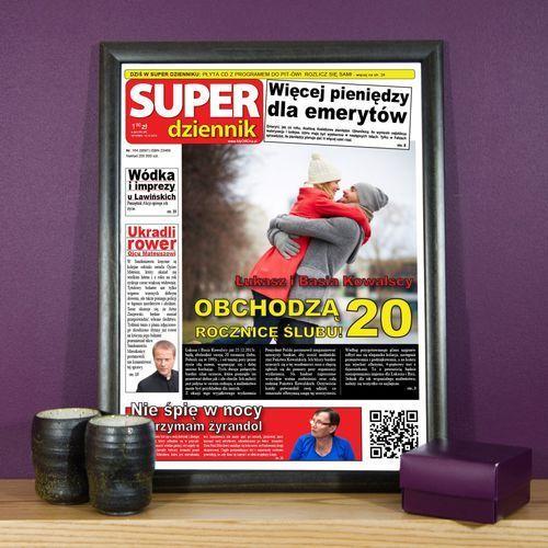 Piękna rocznica ślubu - okładka gazety - wydruk obramowany 30x40cm marki Mygiftdna