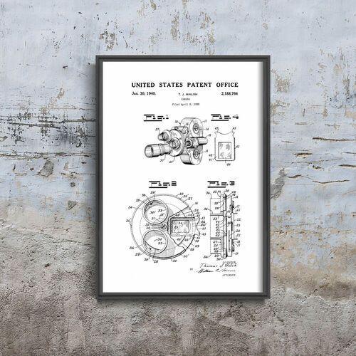Plakat na ścianę plakat na ścianę patent na filtr aparatu bell & howell marki Vintageposteria.pl