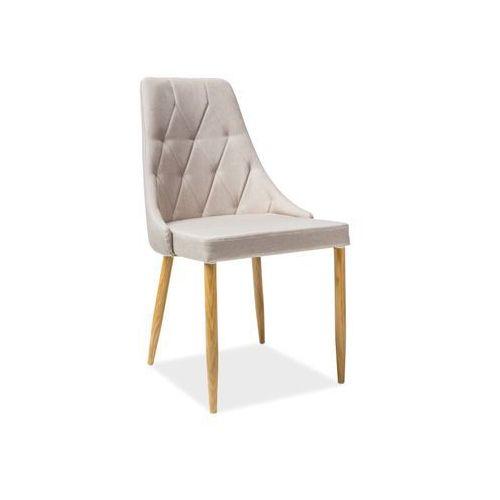 Krzesło metalowe trix ii beż marki Signal