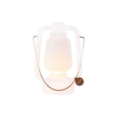 Qazqa Akumulatorowa lampa stołowa 30 cm ip44 biała - storm small