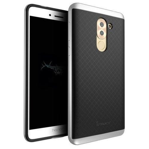 Etui iPaky Premium Hybrid Huawei Honor 6X Silver + Szkło, kolor szary