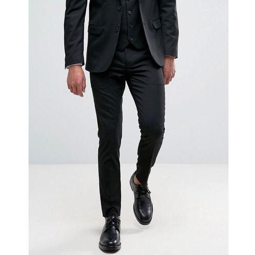 New look  slim stretch suit trousers in black - black
