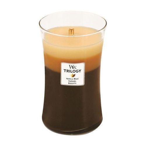 Woodwick - świeca trilogy duża caffe sweets 175h