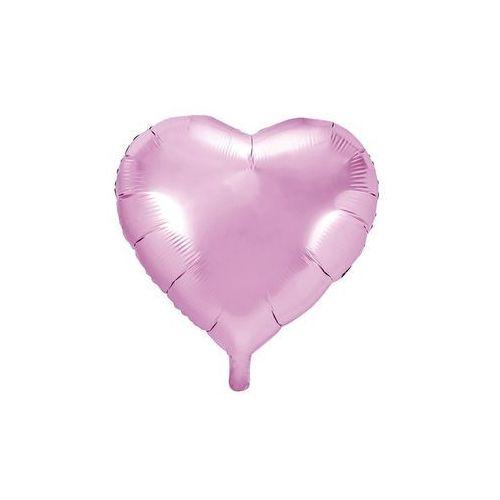 Party deco Balon foliowy serce jasnoróżowe - 45 cm - 1 szt.