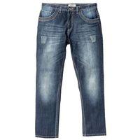 Dżinsy z kontrastowymi szwami regular fit straight ciemnoniebieski marki Bonprix
