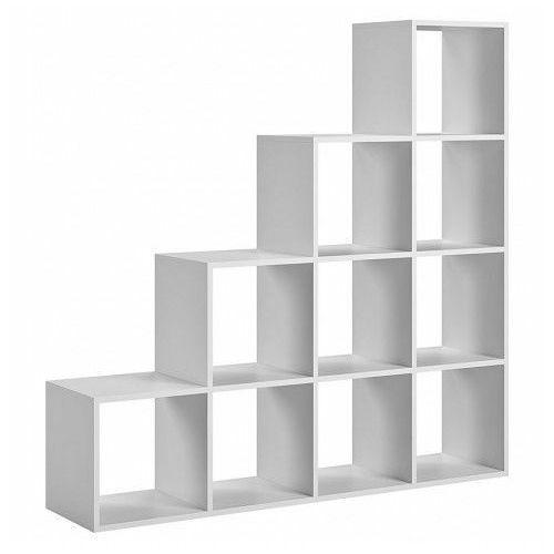 Regał schodkowy Maleo 9X - biały