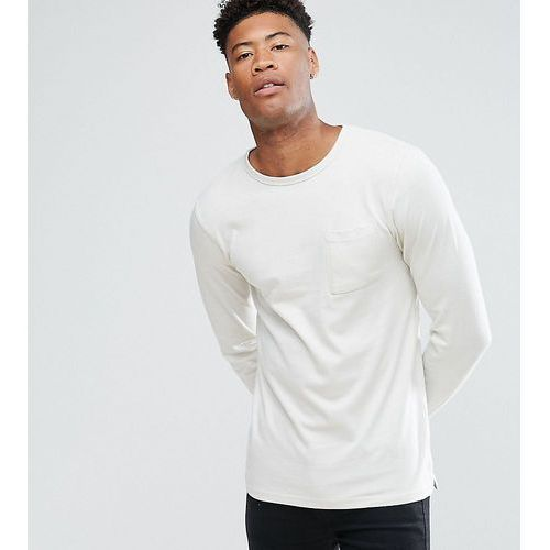Another Influence TALL Long Sleeve Pocket T-Shirt - Grey, 1 rozmiar