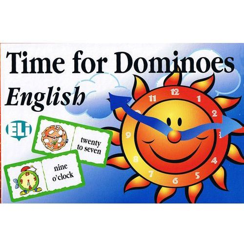 Gra językowa Angielski Time for Dominoes. Opr. karton (opr. kartonowa)