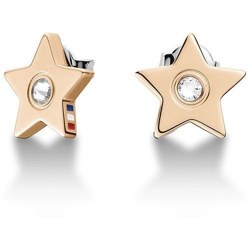 brąz kolczyki z kryształowymi gwiazdek th2700843 marki Tommy hilfiger
