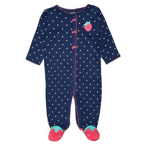 Carter's STAWBERRY Śpioszki navy z kategorii Body niemowlęce