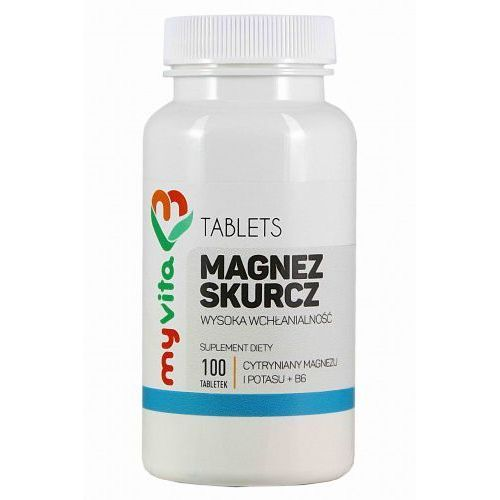 Magnez skurcz (magnez+potas+B6) 100 tabletek - Myvita, 5906395684533