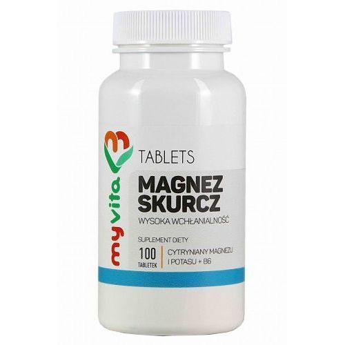 Magnez skurcz (magnez+potas+B6) 100 tabletek - Myvita