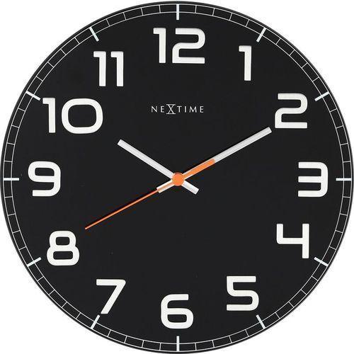 Zegar ścienny classy round czarny marki Nextime