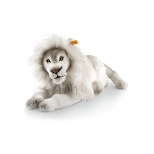 Steiff Maskotka Lew Timba, 42 cm leżąca, kolor biały (4001505065637)