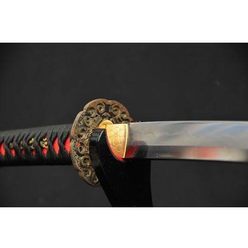Kuźnia mieczy samurajskich Miecz japoński katana, stal łączona, hartowany glinką, cała saya ze skóry płaszczki r647