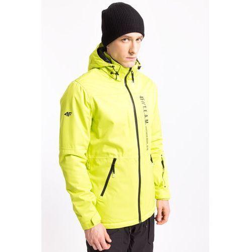 Kurtka narciarska męska kumn552z - limonkowy neon marki 4f