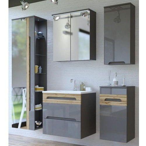 Zestaw mebli łazienkowych GALAXY GREY (801)SET 60 cm, CD-0239