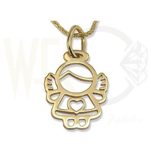 Węc - twój jubiler Wisiorek z żółtego złota aniołek wec-z-wis-aniołek-41