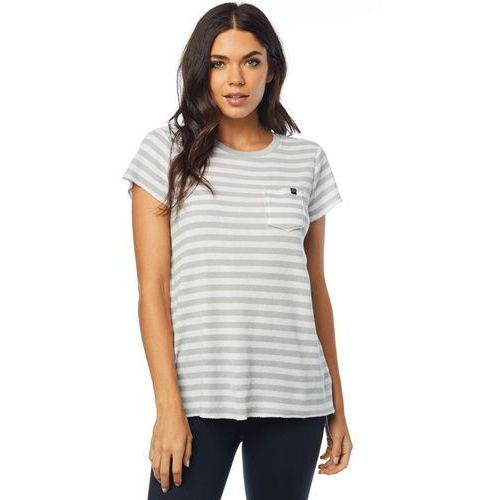 FOX T-shirt damski Striped Out Crew S kremowy