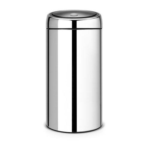 Brabantia - Kosz 'Touch Bin®' De Luxe - wiaderko plastikowe - 45L - stal polerowana