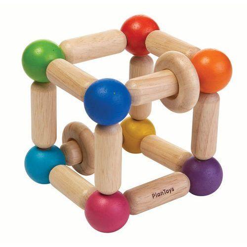 Grzechotka kwadrat marki Plan toys