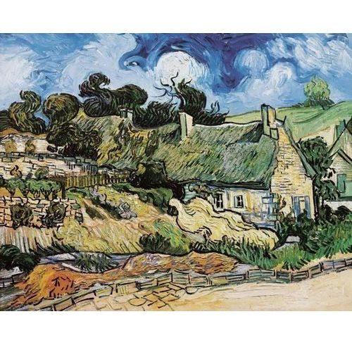 Reprodukcja Thatched cottages at Cordeville AuverssurOise 1890 Vincent van Gogh